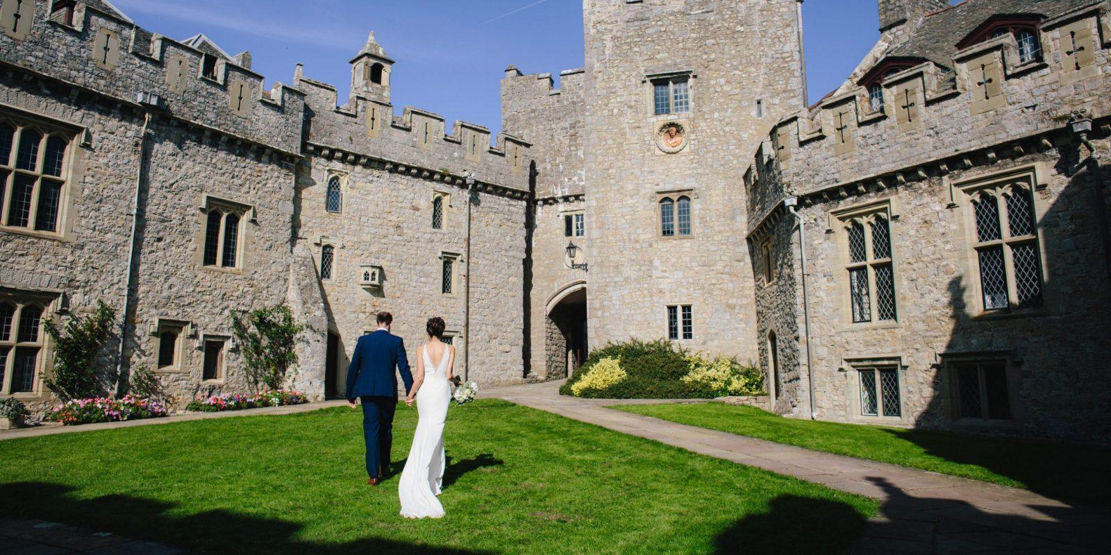 Wedding venue south Wales, St Donat's Castle