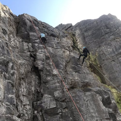 Rock climbing experience with the UWC Atlantic Experience team