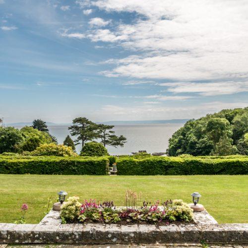 St Donat's Castle gardens