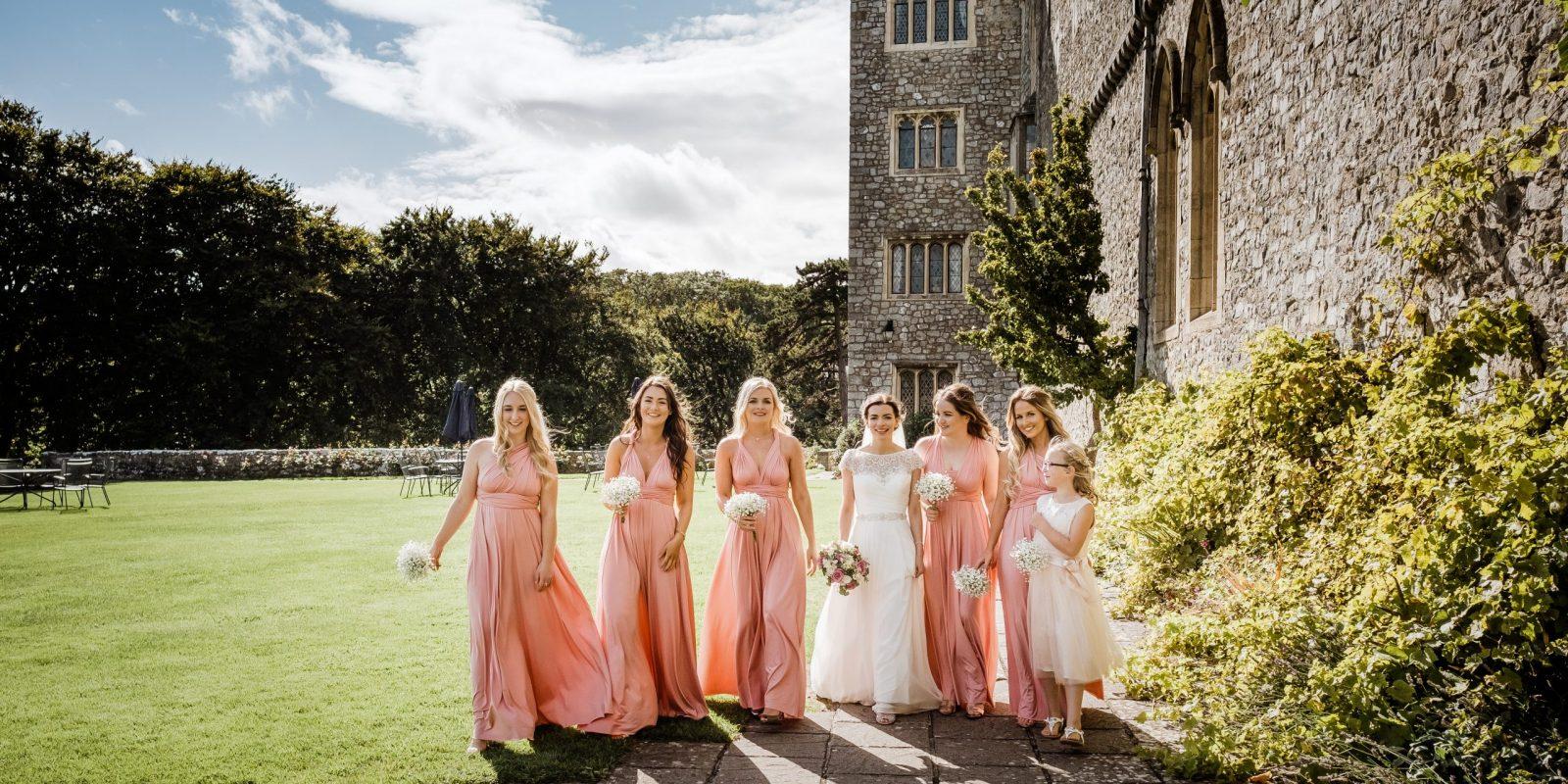 bridesmaid walking photo