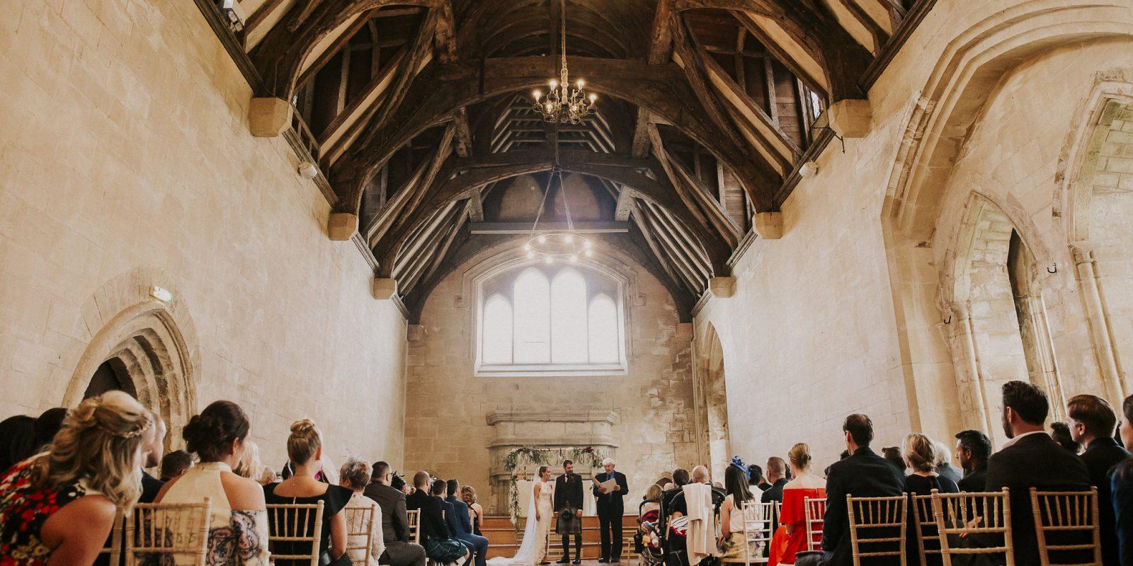 Wedding ceremony in the Bradenstoke Hall