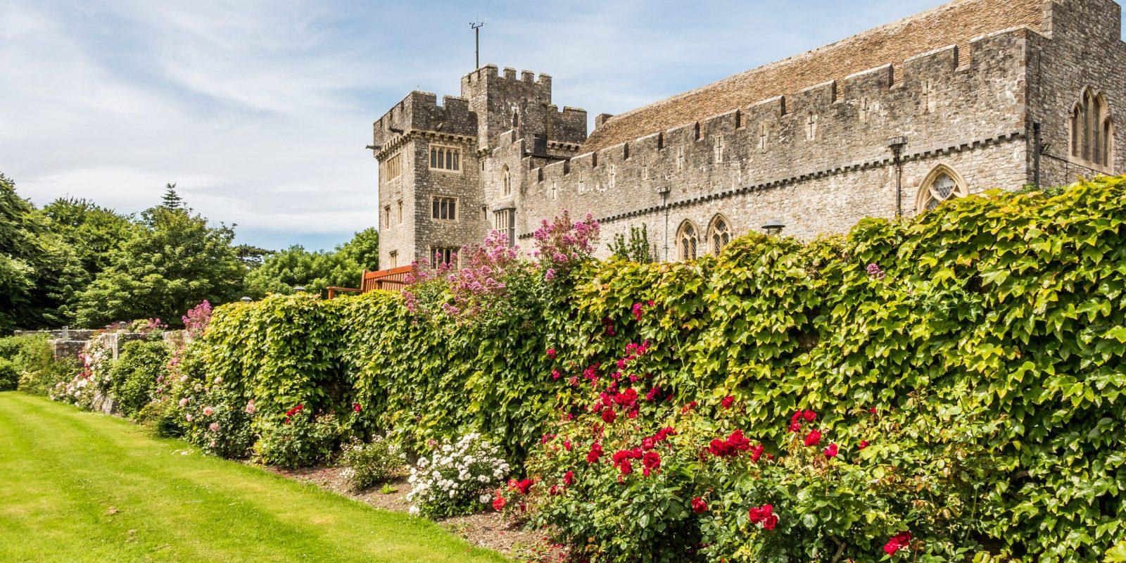 St Donats Castle lawns