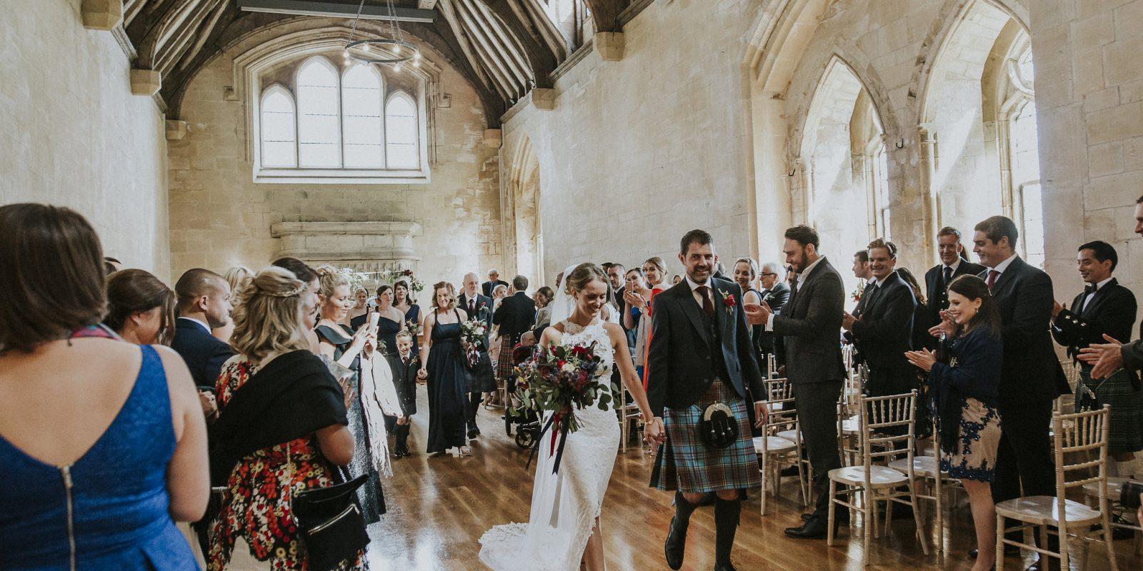 Wedding ceremony in Bradenstoke Hall