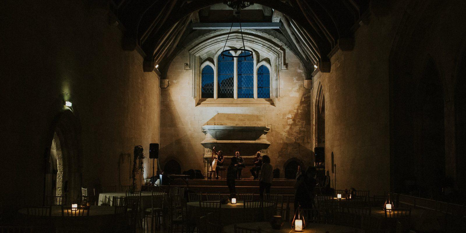 Bradenstoke Hall at night