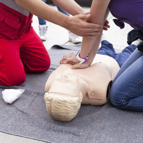 First aid on training course