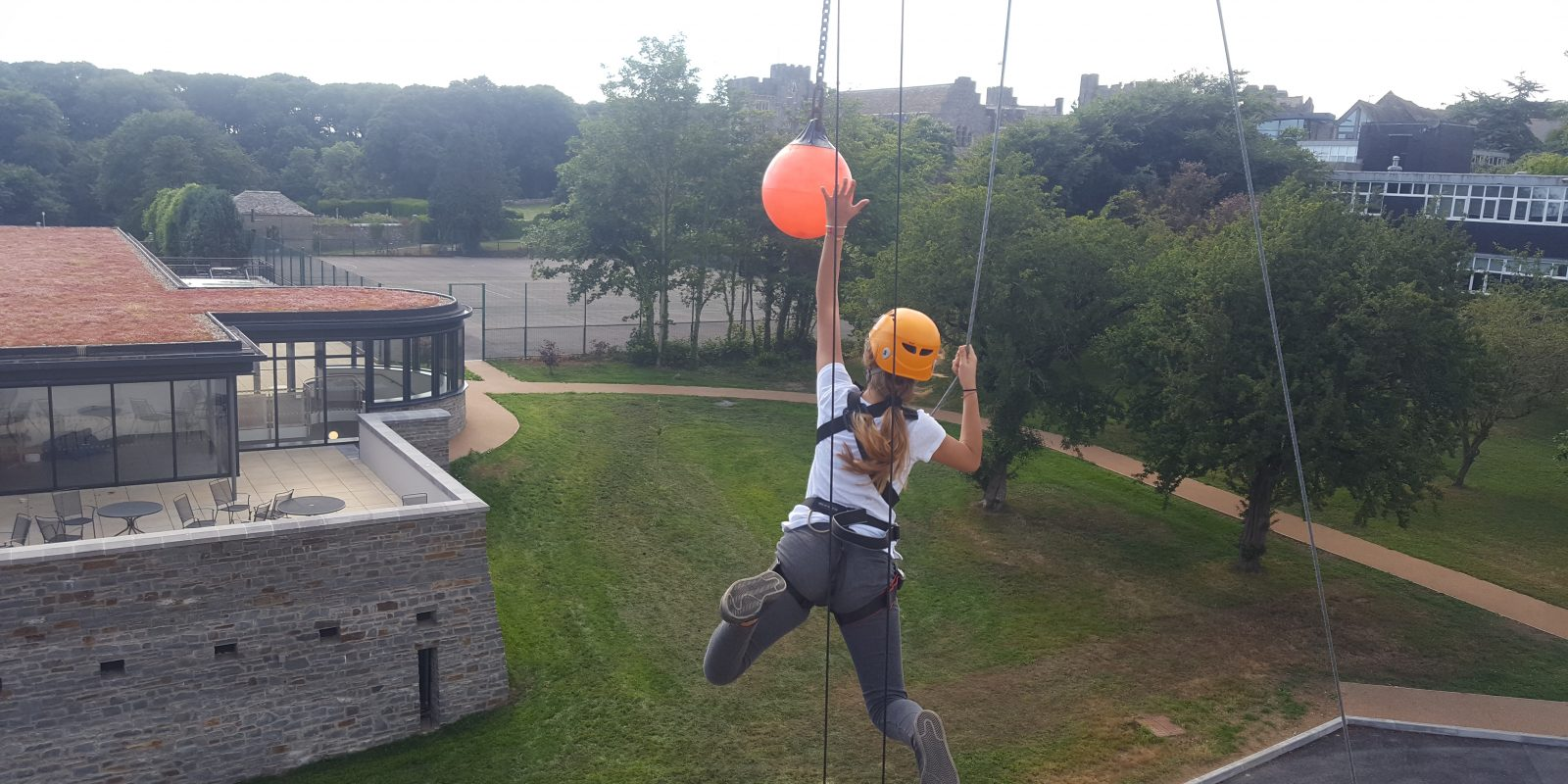 leap of faith high ropes jump