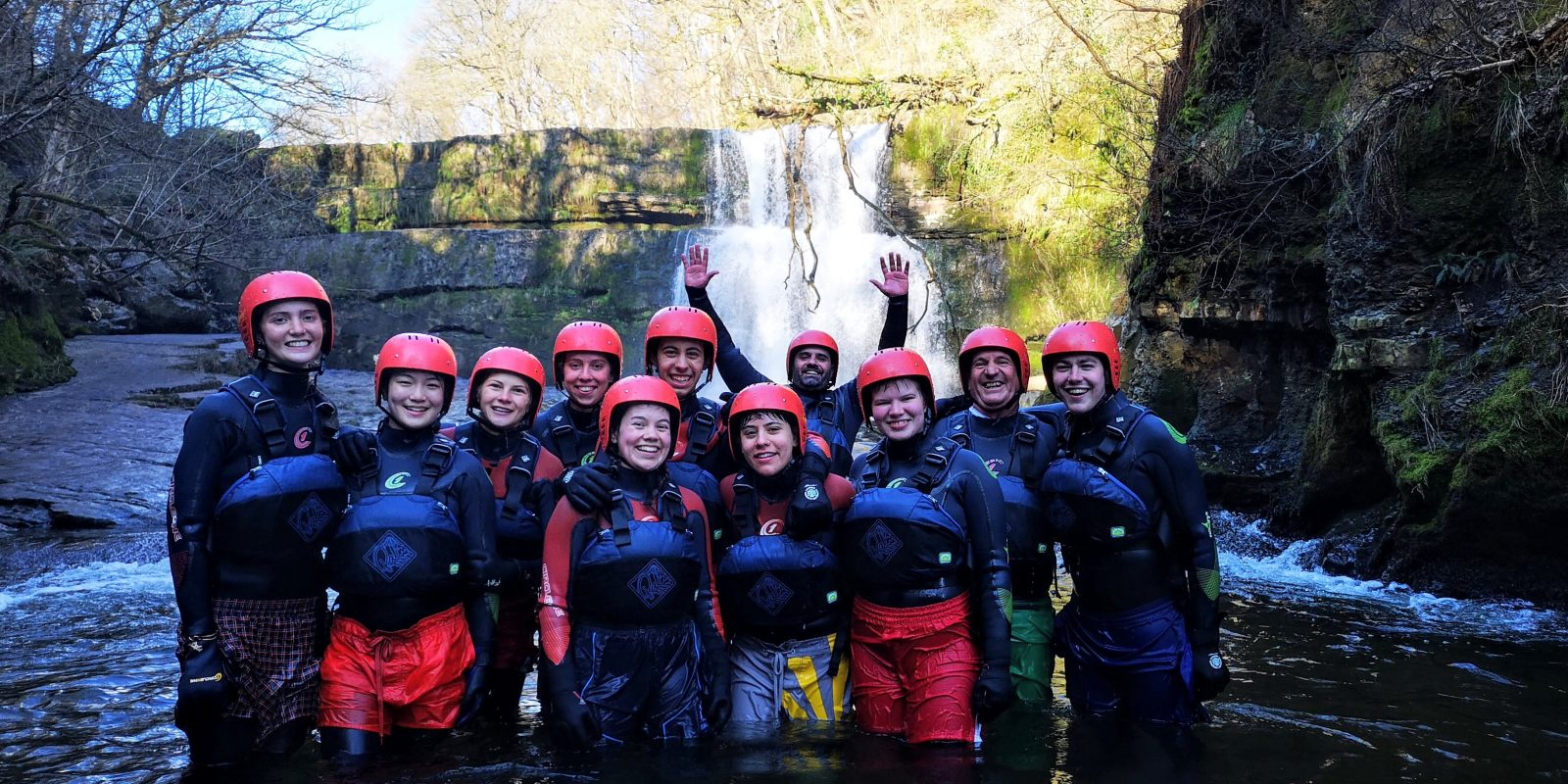 Gorge walking with UWC Atlantic in the Vale of Glamorgan, Wales