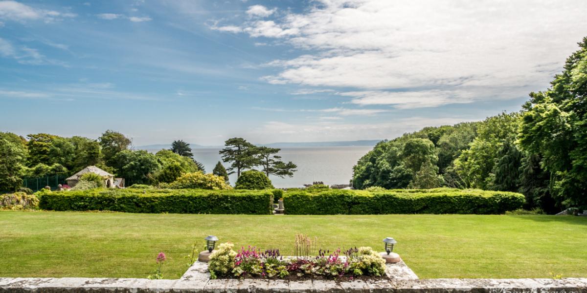 Seaview over St Donat's Castle