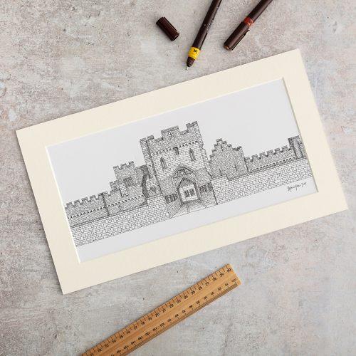 St Donat's Castle Print by Katherine Jones