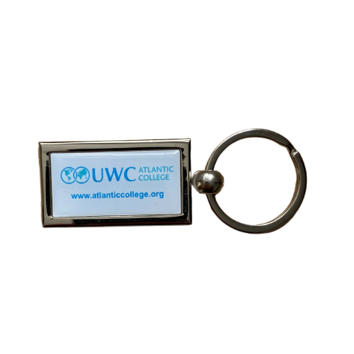 Rectangular Metal Keyring | Classic Logo